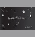 happy birthday card with handmade letters vector image vector image