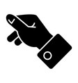 holding hand icon black sign vector image vector image