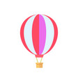 hot air balloon white poster vector image vector image
