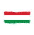 hungary flag watercolor style vector image vector image
