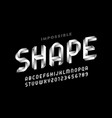 impossible shape style font vector image vector image