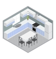 Isometric Home Dining Room vector image