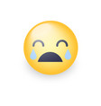 loudly crying emoji smiley with closed eyes and vector image vector image
