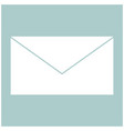 mail the white color icon vector image