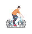 man riding bicycle poster vector image vector image