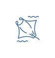 manta line icon concept manta flat symbol vector image vector image