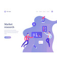 market research concept workflow flying or vector image vector image