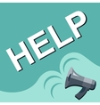 Megaphone with HELP announcement Flat style vector image vector image