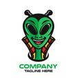 modern mascot is an alien logo vector image