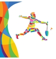Multicolor abstract Professional Badminton player vector image