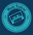 Music design over blue background vector image