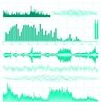 music equaliser set vector image vector image