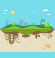 nature saving and pollution flat vector image vector image