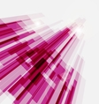 Perspective pink abstract straight lines vector image vector image