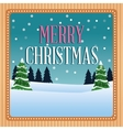 Pine trees of Christmas season design vector image vector image