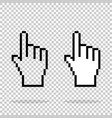 pixel hand on isolated background vector image vector image