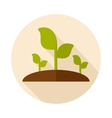 Plant sprout flat icon with long shadow vector image vector image