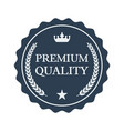 premium quality flat label on white background vector image vector image
