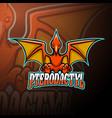 pterodactyl esport logo mascot design vector image vector image