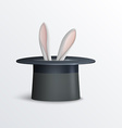 Rabbit in magician hat vector image