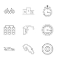Race icons set outline style vector image vector image