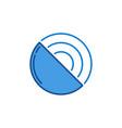 radar satellite antenna concept blue modern vector image