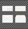 realistic detailed 3d white blank envelopes vector image vector image
