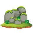rocky mountain on island vector image