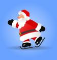 santa claus skating on ice vector image