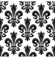 Seamless pattern of black royal lilies vector image vector image