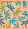 seamless tropical pattern silhouette vector image