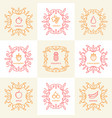 set of vintage monograms vector image