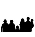 silhouettes family grandparents father mother and vector image vector image