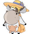 small cow Cartoon vector image vector image
