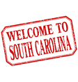 South Carolina - welcome red vintage isolated vector image vector image