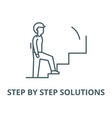 step step solutions line icon linear vector image