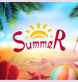 stock realistic beach summer vector image