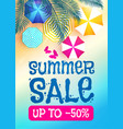 summer sale background warm sea sunny beach with vector image