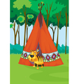 tiger tent vector image vector image