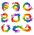 Vibrant Splashes in LGBT Colors vector image vector image