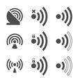 wifi icon vector image vector image
