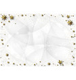 xmas background with golden stars and snowflakes vector image vector image