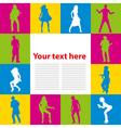 dancing people background vector image