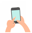 Finger tap on the screen Smartphone vector image