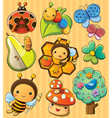 Cute Bugs vector image