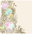 floral color ornament card vector image