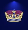 tiara with precious stones 6 vector image