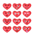 the set heart emoticons vector image