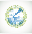 abstract colorful technology with round green and vector image