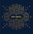 abstract geometric art deco frame border vector image vector image